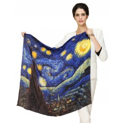 100% Silk Scarf, Large, Vincent van Gogh, The Starry Night