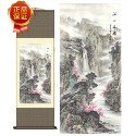 Grace Art Asian Wall Scroll, Beautiful Mountain River Scene