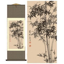 Grace Art Asian Wall Scroll, Bamboo