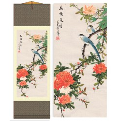 Grace Art Asian Wall Scroll, Birds